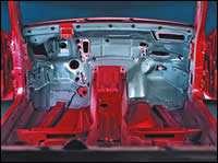 Complex plastic automotive components