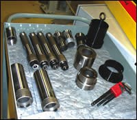 components of the Swiss-type lathes