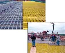 Composite rebar on bridge deck