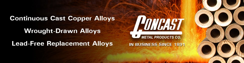 Concast metal products, cast copper alloys