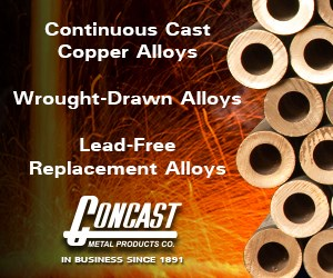 concast cast copper alloys
