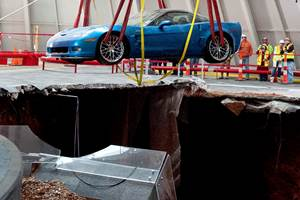 Corvette Museum to Fill Sinkhole, Fix or Display Damaged Cars