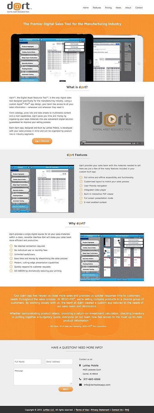 LaViaz Mobile Digital Asset Resource Tool (Dart) app