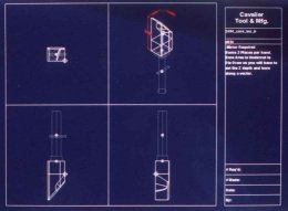 Customized EDM electrode manufacturing setup sheet