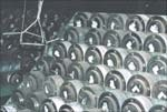 Die extrusion storage rack
