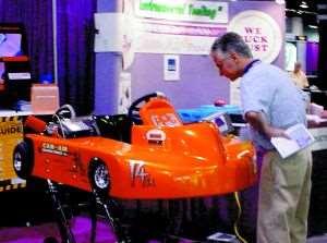 UV cured body on demonstration go-kart