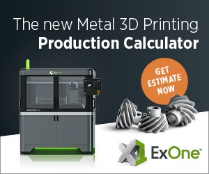 ExOne Production Metal Cost Calculator