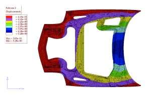 Finite element analysis of carbon fiber corvette hood