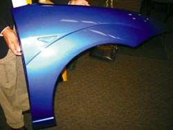 Carbon fiber fender from SP Systems