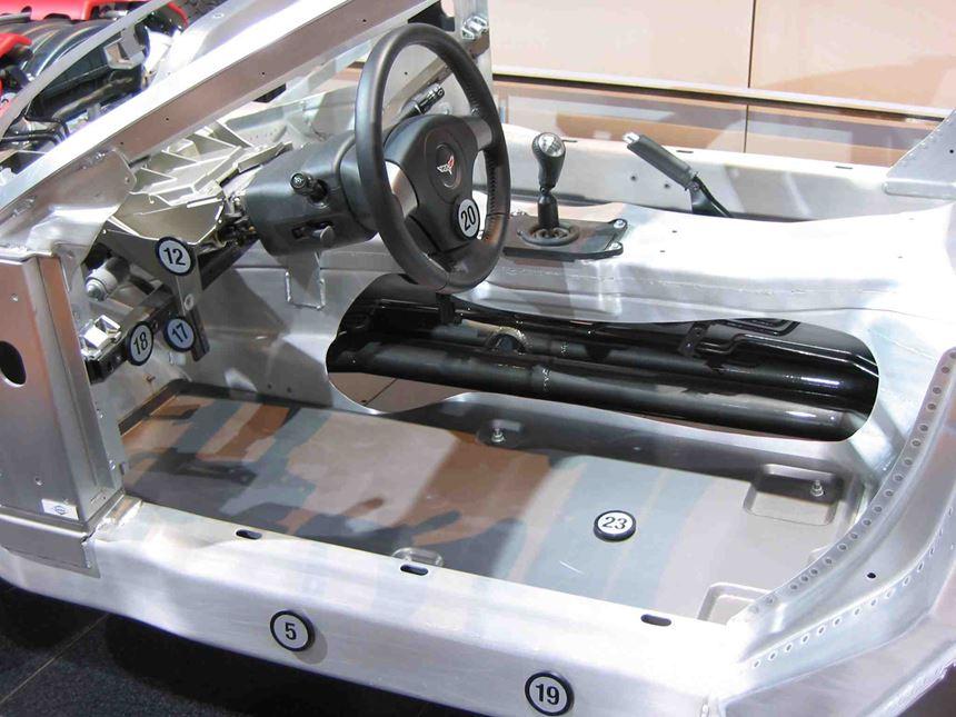 Corvette floor panels