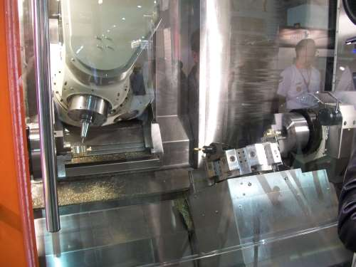 Fortune's five-axis Vturn-X200 turn-mill