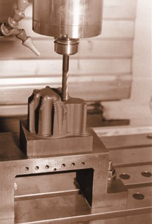 Machining a typical EDM electrode