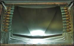 Full-size thermoplastic car hood