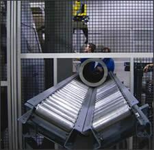 gantry robot and parts conveyor