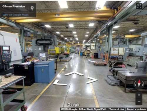 Google Street View tour of Gilman's 70,000 square foot facility