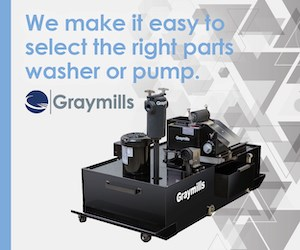 Graymills makes parts washer selection easy