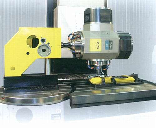 machine table with rotary table