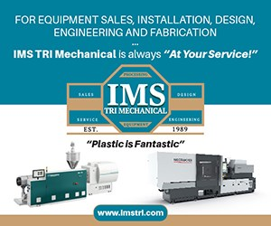 Injection Molding Machine, Extruder, IMS Tri Logo