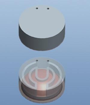 nickel alloy/copper composite electroform