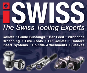iSwiss offers tooling for swiss type cnc lathes