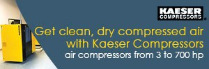 clean dry air with kaeser compressors