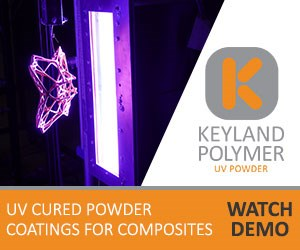用于复合材料的UV固化粉末涂料演示