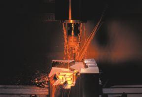 Finish machining of hardened tool steels.