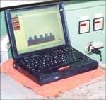 Laptop at tooling station