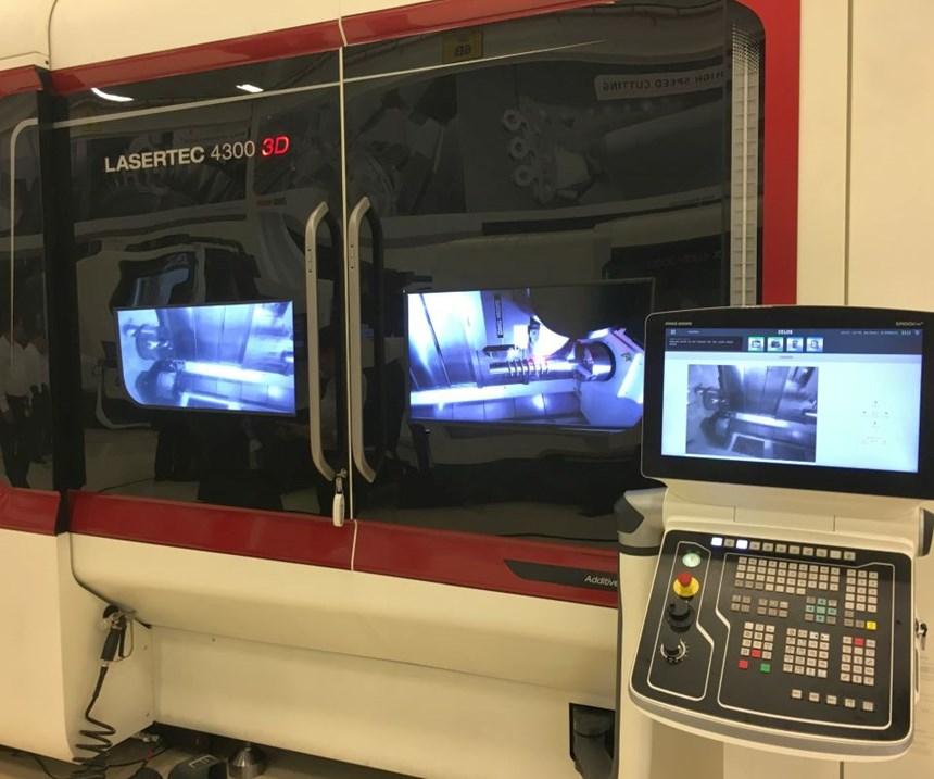 Lasertech 4300 hybrid additive/subtractive machine features