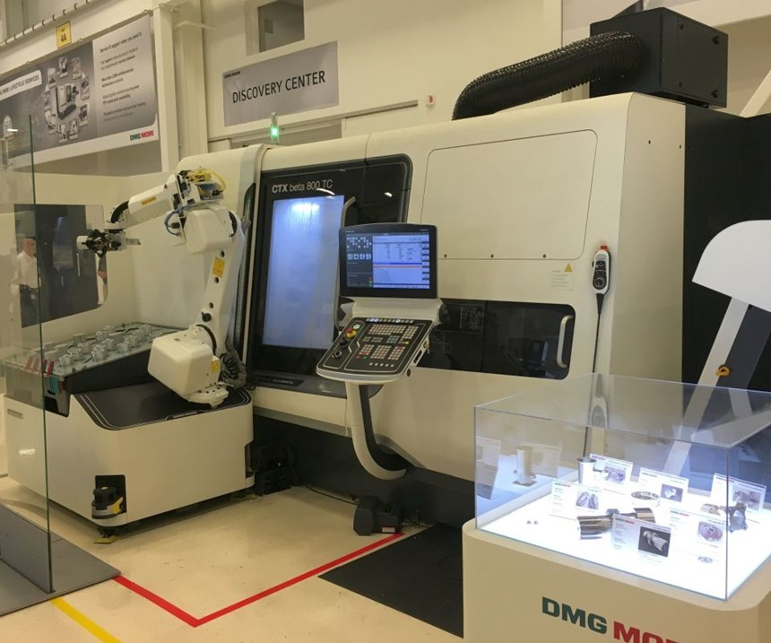 CTX Beta 800 TC turn-mill with a Robo2Go automation system
