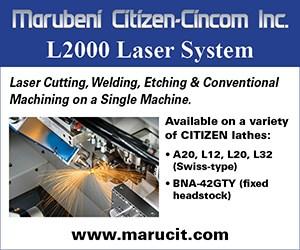 Marubeni Citizen-Cincom L2000 Laser System