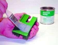Brushing on Master Bond adhesive
