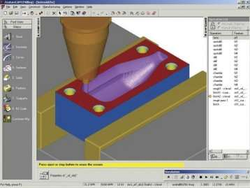 mages illustrate the process of moving from geometry to features to simulation
