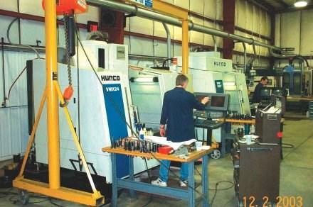 Steel preparation/milling department.