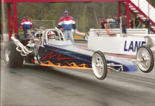 The Race Shop's IHRA rear-engine dragster