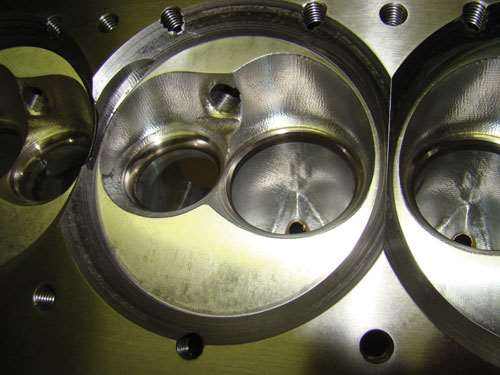 The Race Shop's combustion chambers machined from NextEngine 3D scanned data