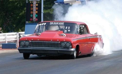 The Race Shop's custom 1962 Impala with NextEngine-enhanced racing engine