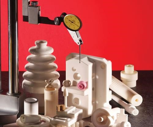 Array of custom ceramic parts made by Superior Technical Ceramics