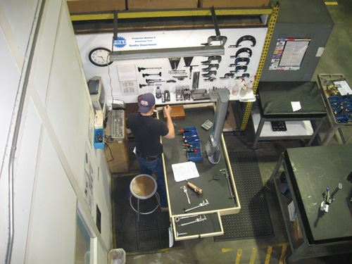 gaging area from above