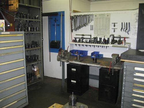 tool setup area