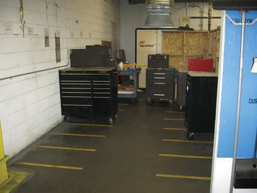 tool chest parking area