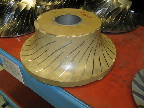 Impeller with wax