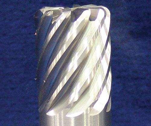 10-flute carbide end mill for machining titanium
