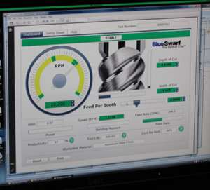 """""""RPM"""" dial of the Tool Dashboard"""