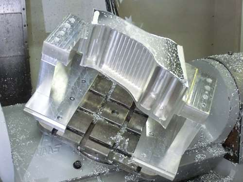 part produced on Padgett Machine's five-axis machining centers