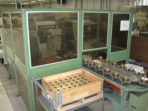 robot-loaded CNC lathe