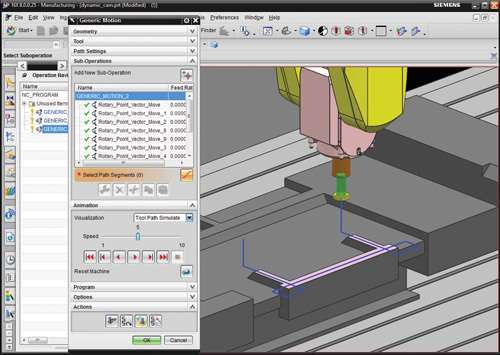 This tool path typically requires drive geometry modeling.