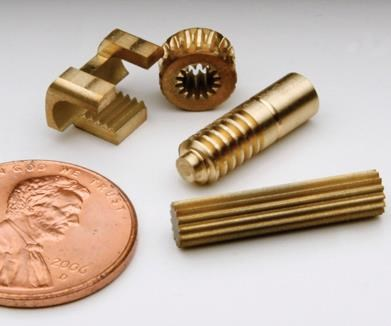 a sample of machined parts from Machined Concepts
