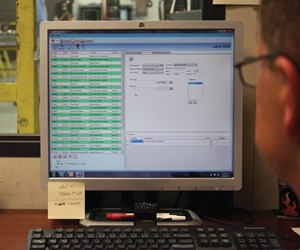 Monitor displaying TSTracker software.