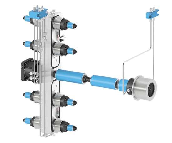 Internal valve gate nozzle.